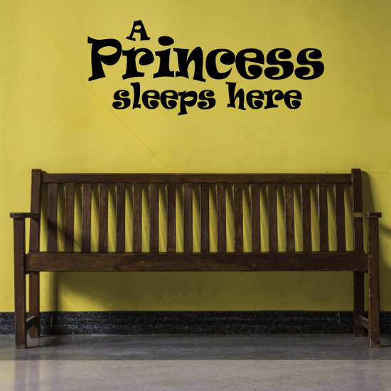 A princess sleeps here Wall Decal