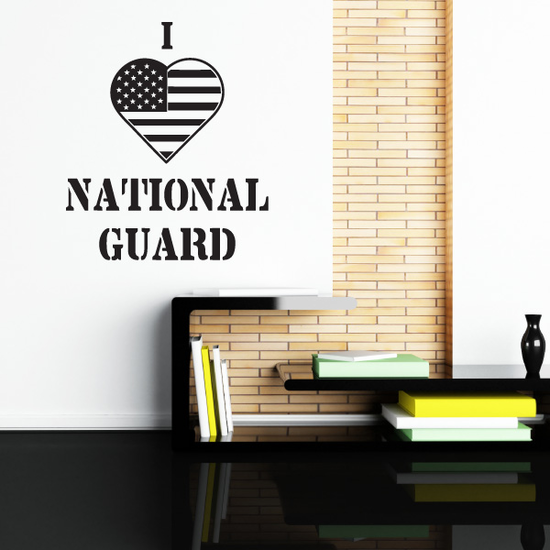 I Heart The National Guard Decal