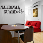 National Guard Wife Decal