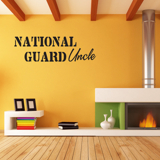 National Guard Uncle Decal