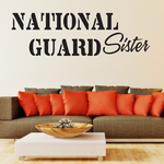 National Guard Sister Decal