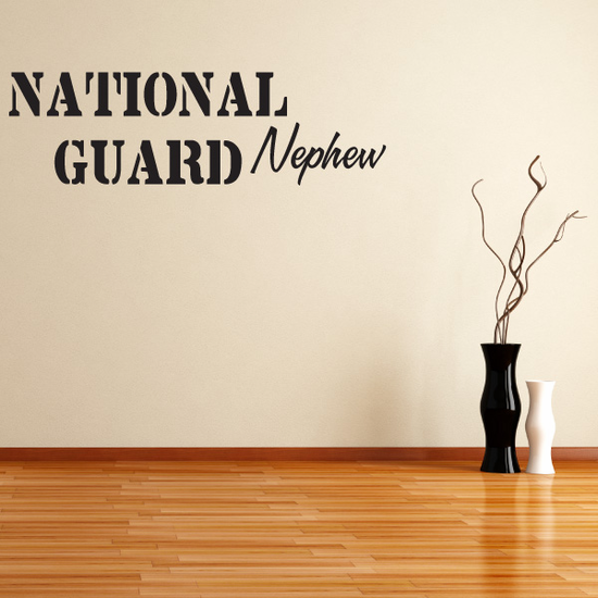National Guard Nephew Decal