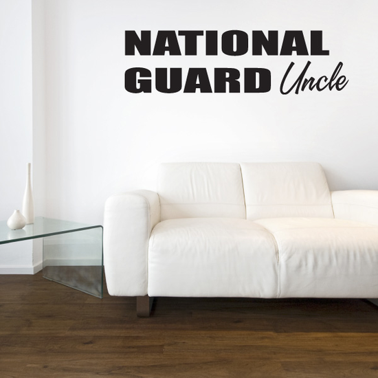 National Guard Uncle Block Decal