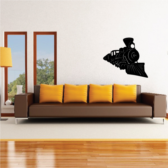 Oncoming Old Fashined Steam Train Decal