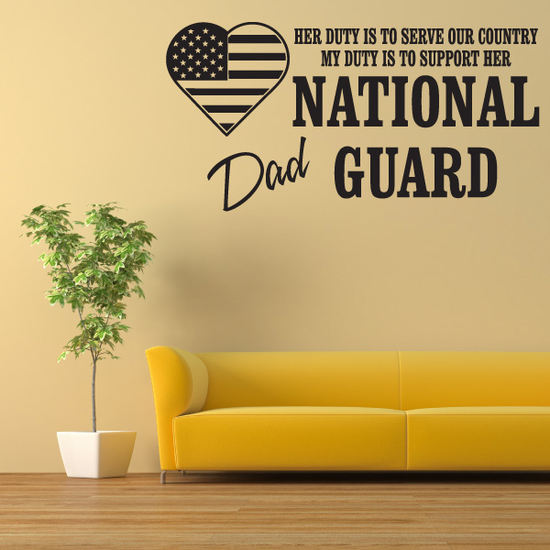 Her Duty Dad National Guard Decal