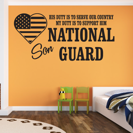 His Duty Son National Guard Decal