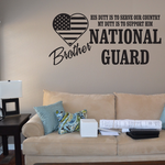 His Duty Brother National Guard Decal