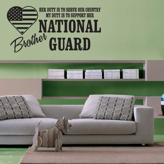 Her Duty Brother National Guard Decal
