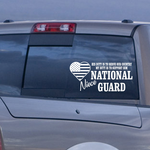 His Duty Niece National Guard Decal