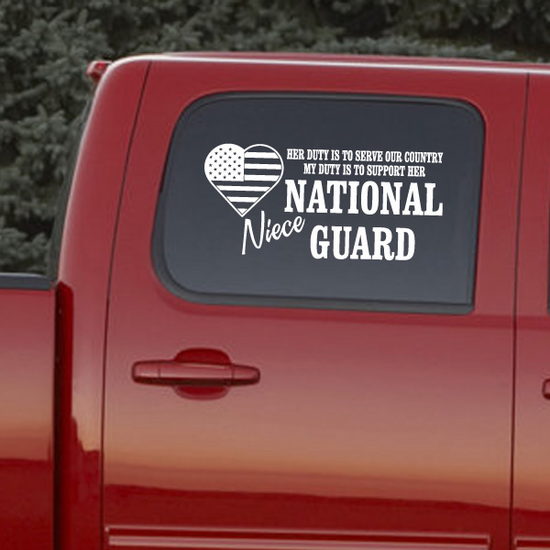 Her Duty Niece National Guard Decal