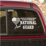 His Duty Aunt National Guard Decal