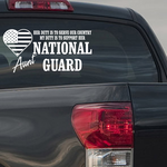 Her Duty Aunt National Guard Decal