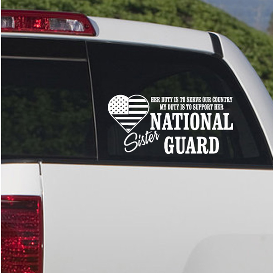 Her Duty Sister National Guard Decal