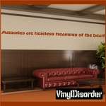 Memories are timeless treasures of the heart Wall Decal