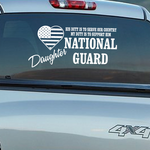His Duty Daughter National Guard Decal