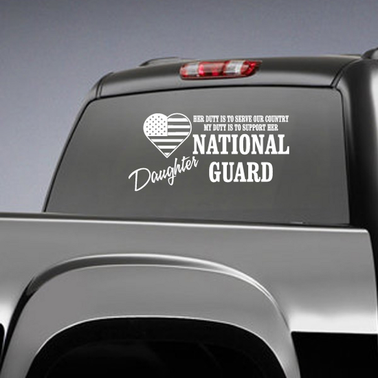 Her Duty Daughter National Guard Decal