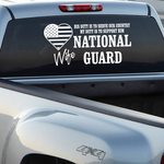 His Duty Wife National Guard Decal
