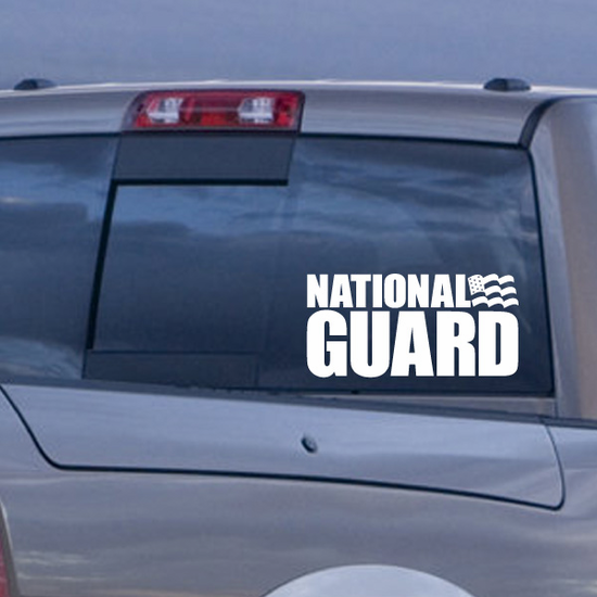 National Guard with Flag Decal