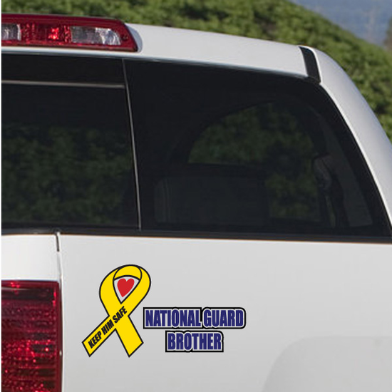 Keep Him Safe National Guard Brother Printed Die Cut Decal