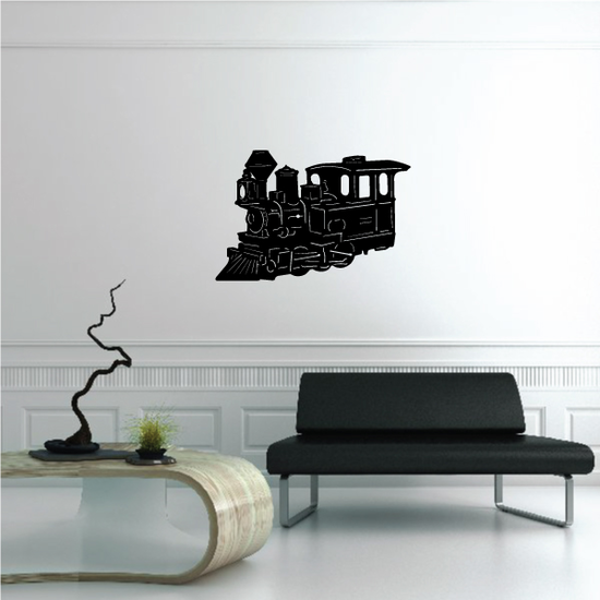 Small Steam Train Engine Decal