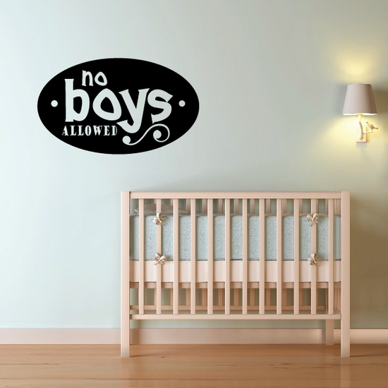 No boys allowed Wall Decal