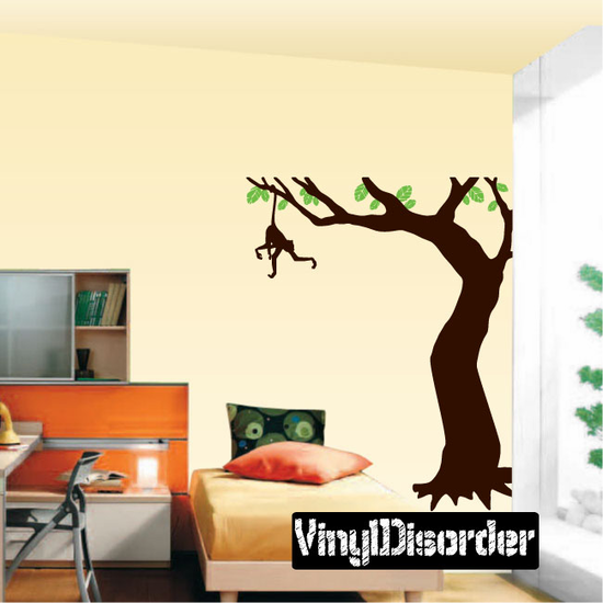 Corner Tree Branch with Monkey kit - Vinyl Wall Decals