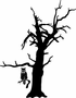 Dead Tree with owl Kit - Wall Decals