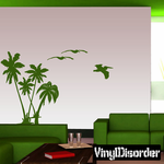 Palm Tree with Pelicans kit - Vinyl Wall Decals