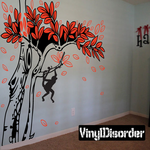 Monkey swinging from Tree Branch Kit - Vinyl Wall Decals