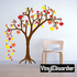 Large Tree with Multiple colored Leaves kit - Vinyl Wall Decals