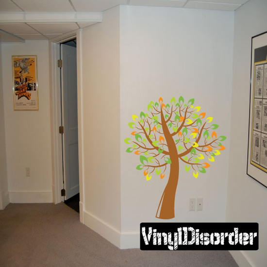 Fun Tree with Leaves Branch Kit - Vinyl Wall Decals