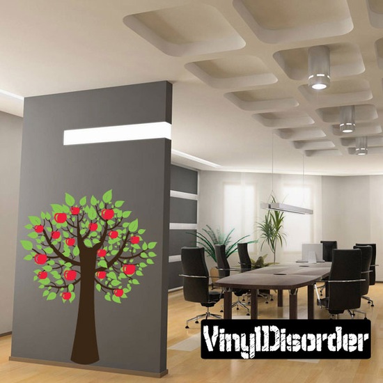 Fruit Apple Tree with Leaves Kit - Vinyl Wall Decals