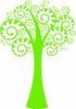 Crazy Tree with Sprial Branches with Leaves Kit - Vinyl Wall Decals