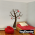 Bare Tree with birds on branches kit - Wall Decals