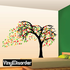 Tree Wall Decal and leaves Blowing in the Wind 02 Kit