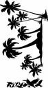 Palm Tree Island with Pelicans Kit - Wall Decals