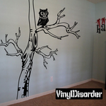 Large Scary Tree with Branches and Owls Kit - Wall Decals
