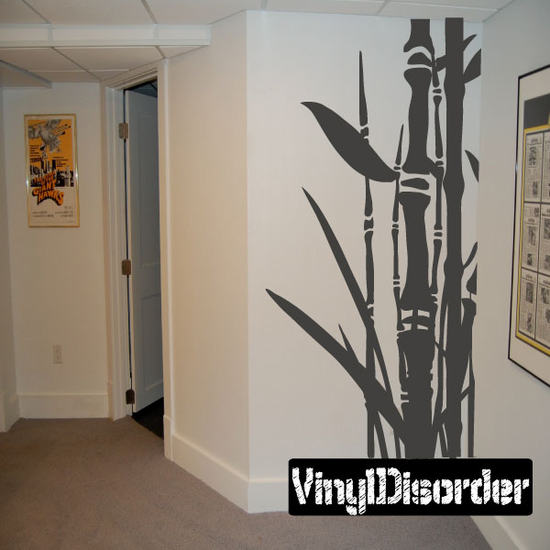 Tall Asian Bamboo with Leaves Kit - Wall Decals