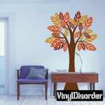 Tall Tree with Large Leaves Kit - Wall Decals