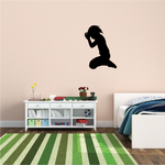 Boy Praying Before Bed Decal