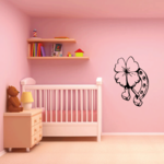 Horseshoe and Four Leaf Clover Decal