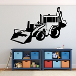 Simple Front Loader with Backhoe Decal