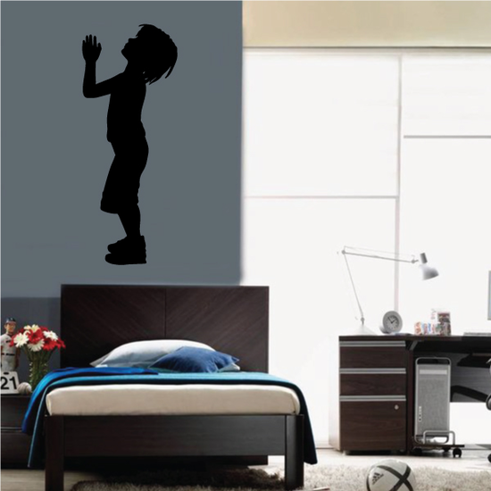 Standing Boy Praying to the Sky Decal