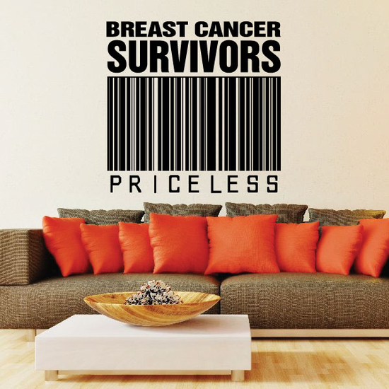 Breast Cancer Survivors Priceless Decal