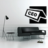 CEO Desk Sign Decal