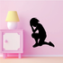 Kneeling with Hand on head Praying Decal