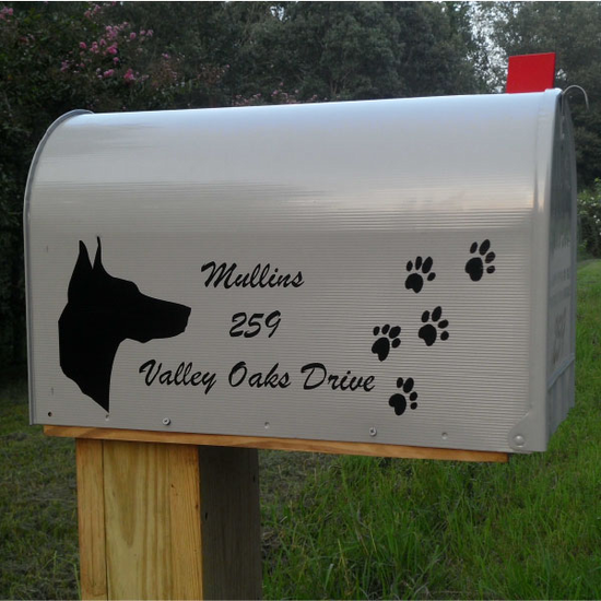 Custom Mailbox Lettering Decal