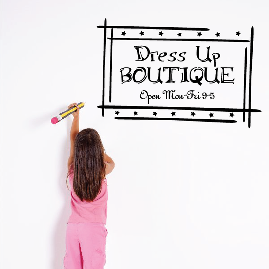 Dress Up Boutique Wall Decal
