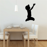 Young Boy praying with hands spread Decal