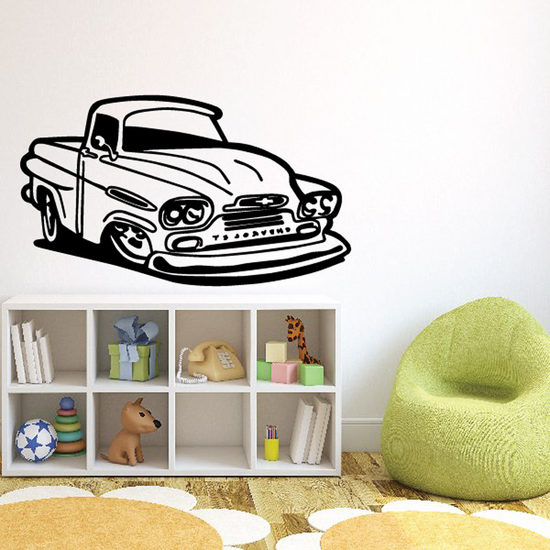 Cartoon Truck Wall Decal - Vinyl Decal - Car Decal - DC098